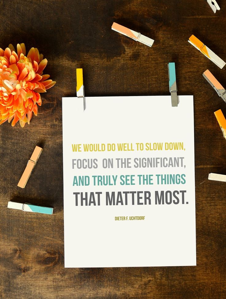 see the things that matter most printable