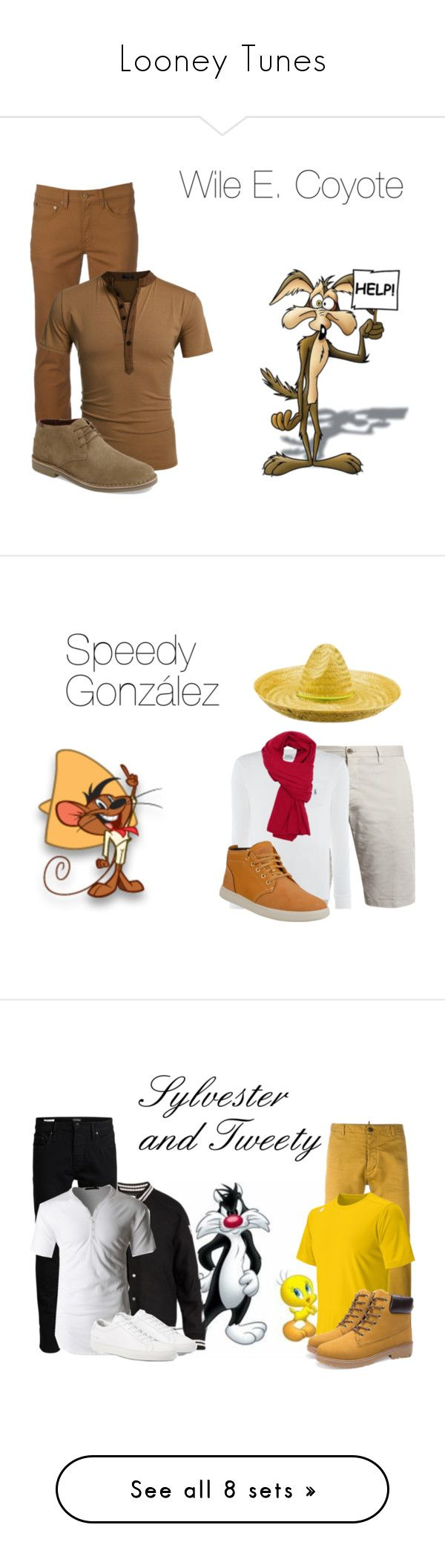 """Looney Tunes"" by hestiarocks ❤ liked on Polyvore featuring LOONEY TUNES, Urban Pipeline, Kenneth Cole Reaction, men's fashion, menswear, J.W. Brine, Polo Ralph Lauren, Timberland, Emporio Armani and Off-White"
