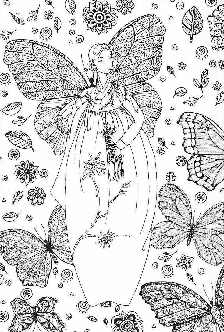 Coloring pages girly - Find This Pin And More On Coloriages Girly Adult Coloring Page