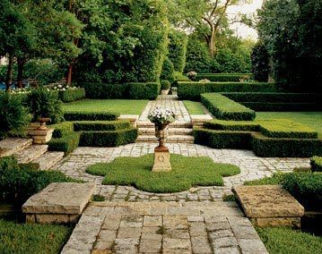 Rustic Stone Paving, Clipped Hedges, Sunken Garden   Ideas For Out The Back