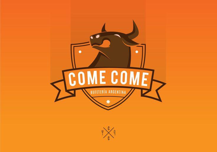 Logo COME COME: Bufeteria argentina carnes a la parrilla.
