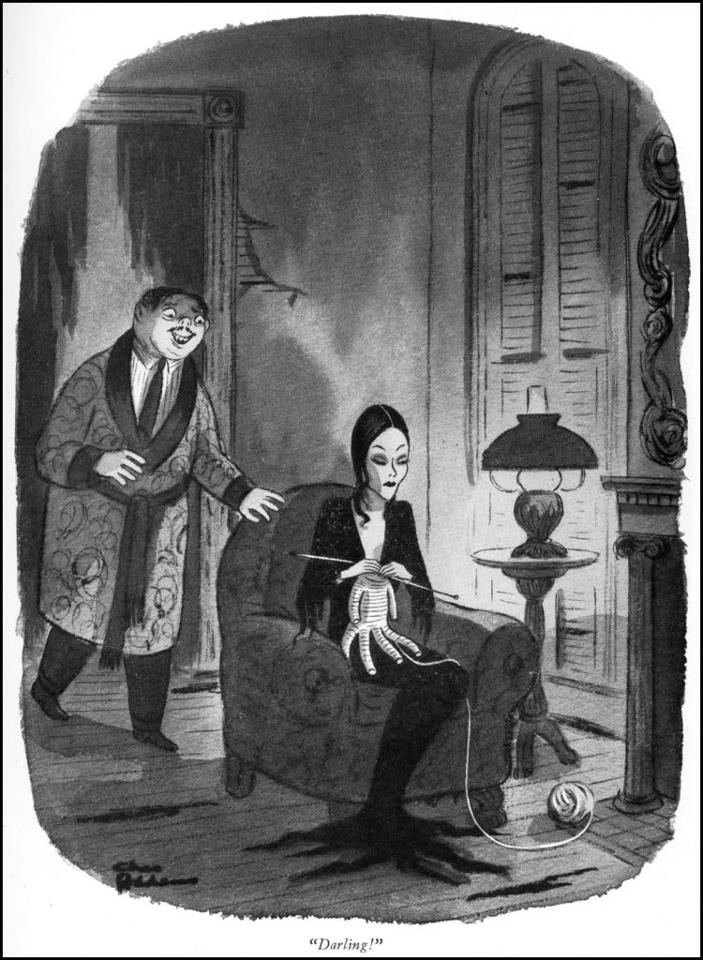 """Darling!"" Addams Family comic by Charles Addams"