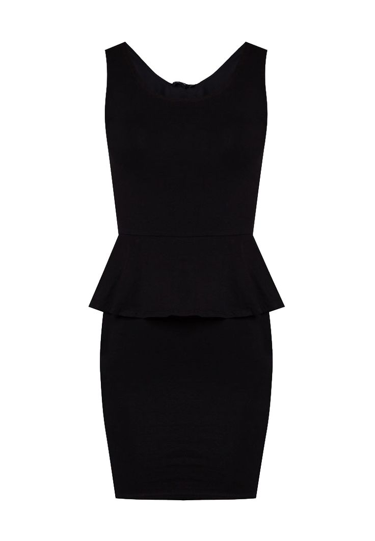 Sleeveless Peplum Bodycon Dress by New Look. Looks classy with this black peplum bodycon dress. Black dress is a must, this bodycon come with classic and elegance style, perfect for your evening occasion. Made from polyester and round neck, stretchable. http://zocko.it/LE1kA