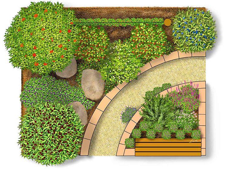 Nasch- \ Kräutergarten Kräutergarten, Gärten und Gemüsebeet - mediterraner garten kosten