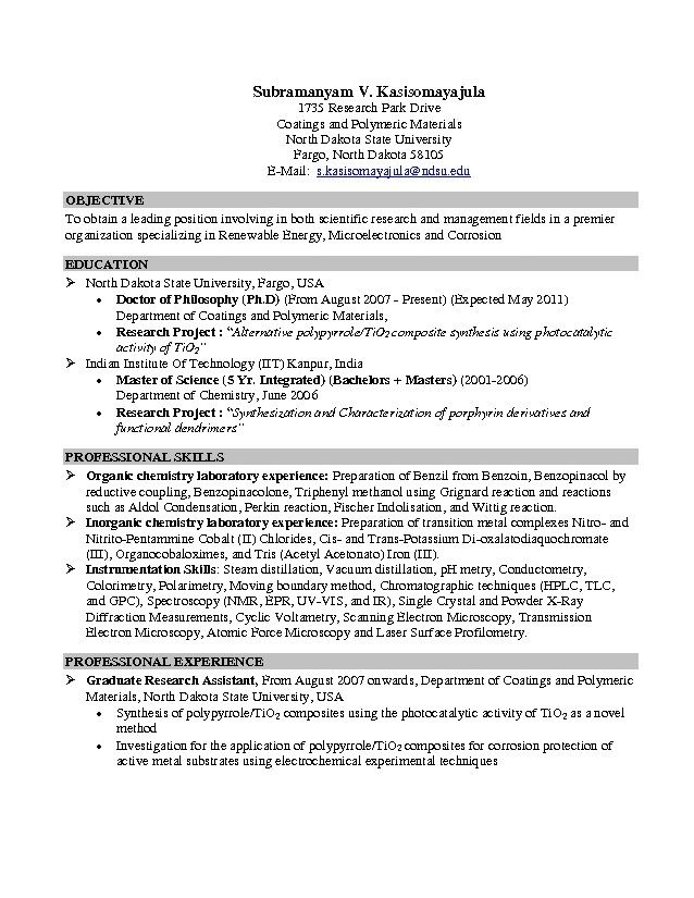 Resume Objective Examples For College Students