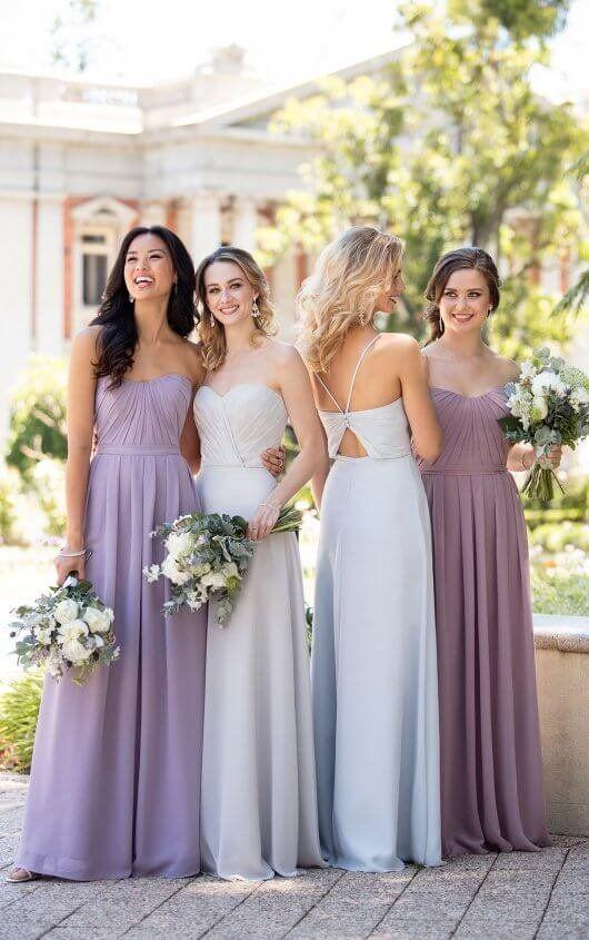9a85eca8415c3 Classic Chiffon Bridesmaid Gown with V-Neck in 2019 | Essense ...