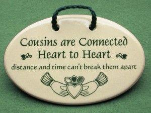 cousins irish sayings and distance on pinterest