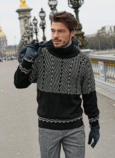 Cat. 13/14 - #695 - Jacquard sweater | Buy, yarn, buy yarn online, online, wool, knitting, crochet | Buy Online