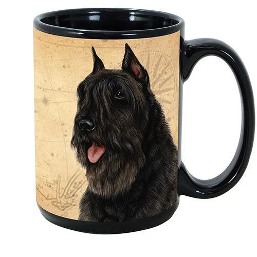 Faithful Friends Bouvier Black Dog Breed Coffee Mug