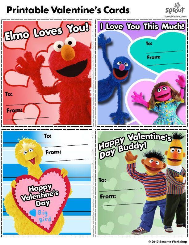 Sesame Street Valentine 39 s Day Cards February Groundhog