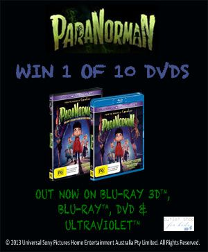 Win Paranorman DVDs