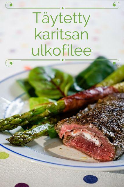 Hiidenuhman keittiössä: Täytetty karitsan ulkofilee ja parsaa  pannulla http://hiidenuhmankeittiossa.blogspot.fi/2016/03/taytetty-karitsan-ulkofilee-ja-parsaa.html