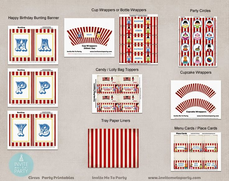 Carnival Party Decorations Printables Invite Me To Party: Carnival Party | Circus Party