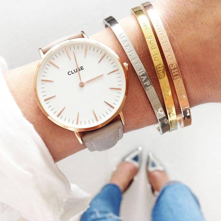 Armband Make it happen gouden armbanden met tekst musthave bracelets online kopen