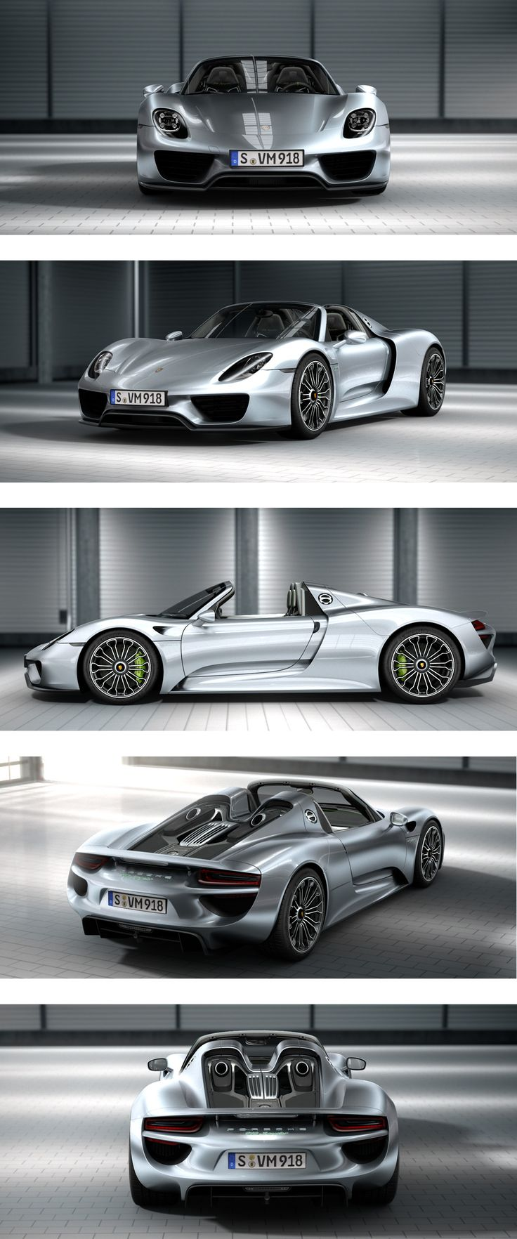 2013 Porsche 918 Spyder | Power: 887hp | 0-60mph: 2.8s | Top speed: 211mph (340km/h) #Porsche #918