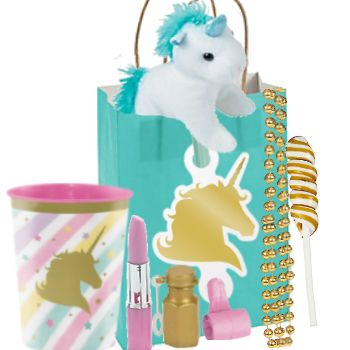 Unicorn Sparkle Deluxe Loot Pack with Plush Party Supplies Canada - Open A Party