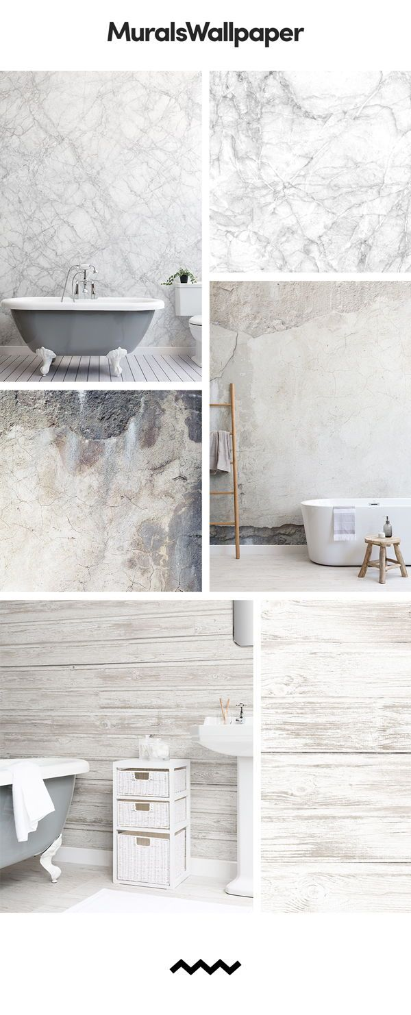 Create A Rustic Grey Bathroom Space With Rustic Textured Wallpapers And Elevate An Industrial Chic S Home Design Blogs Textured Wallpaper Wood Effect Wallpaper