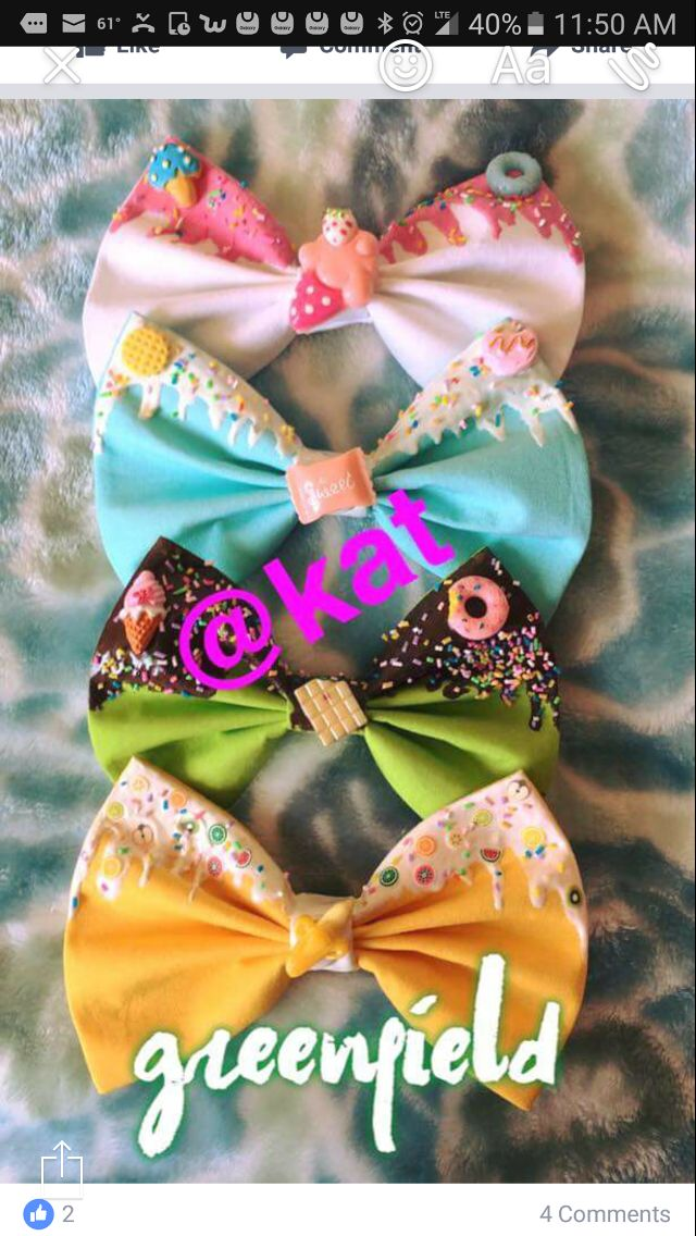 Sweet melted bows