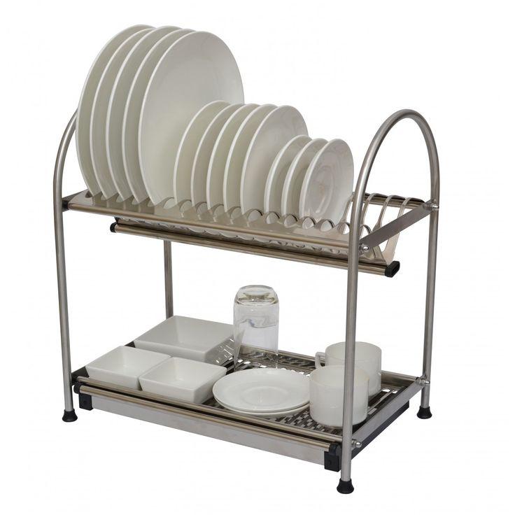 Klaxon Kitchen 2 Tier Multi Utility Rack Storage Shelf