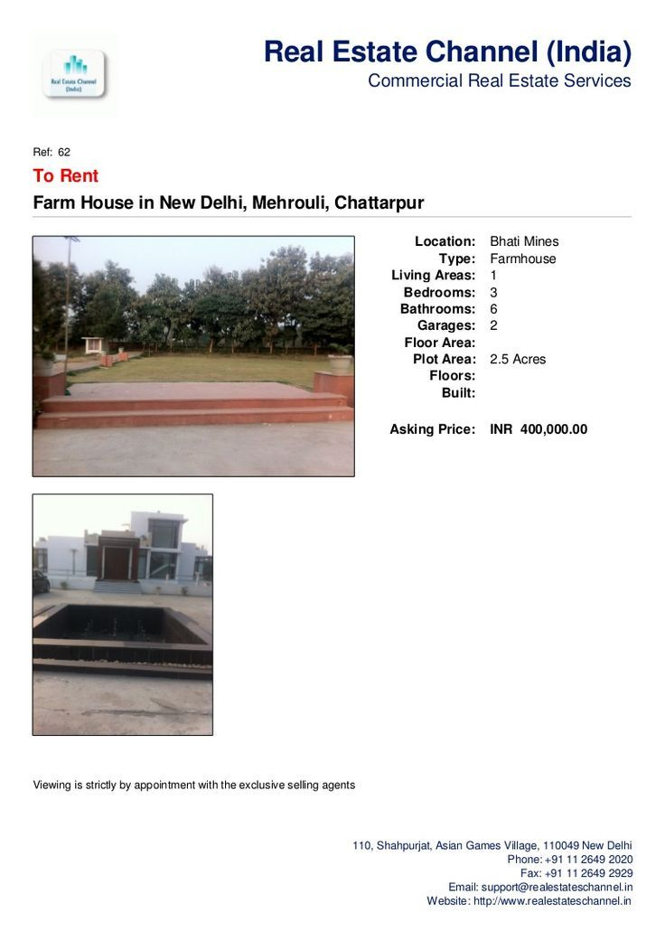 Farm House for Rent near Radha Soami, Bhati Mines. +91-9899788810