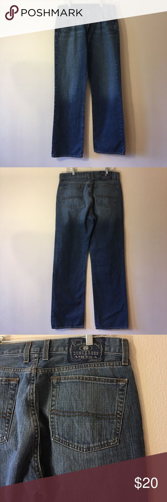 Lucky Brand Dungarees jeans Excellent condition 👍34 long Lucky Brand Jeans