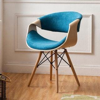 Corvus Adams Contemporary Teal Blue Accent Chair