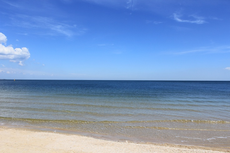 Shot van South Melbourne Beach Port Philip Bay Australia