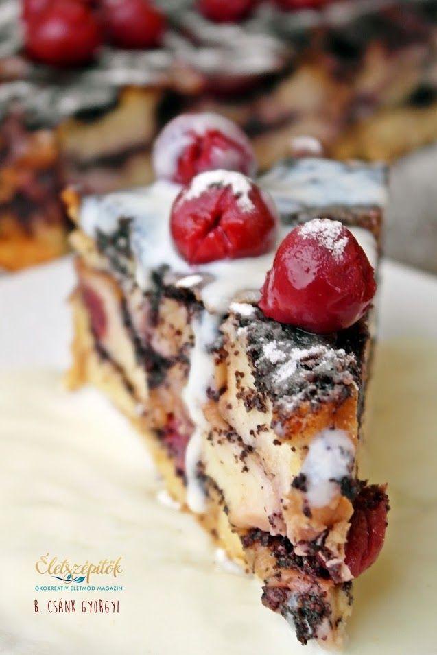 Egyszerűen elkészíthető látványos édesség. Idényben friss meggyel ízesíthetjük…