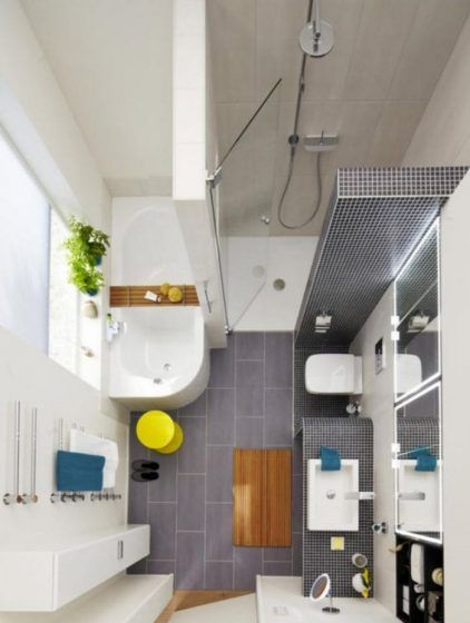 Distribución de sanitarios de baño pequeño 004