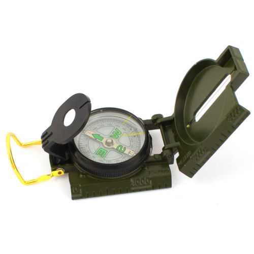 Army-Green-Metal-Box-Holder-Traveing-Camping-Traveling-Compass-2-Day-Shipping