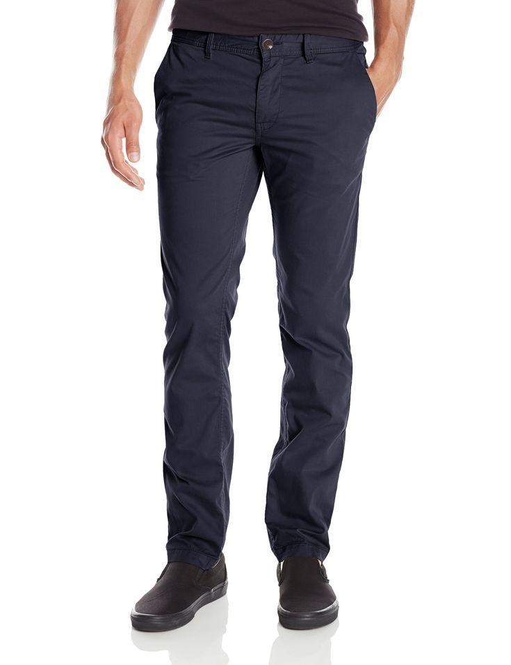 BOSS Orange Men's Schino-Slim1-D Slim Fit Cotton Stretch Chino Trouser,  Dark Blue,  38x32