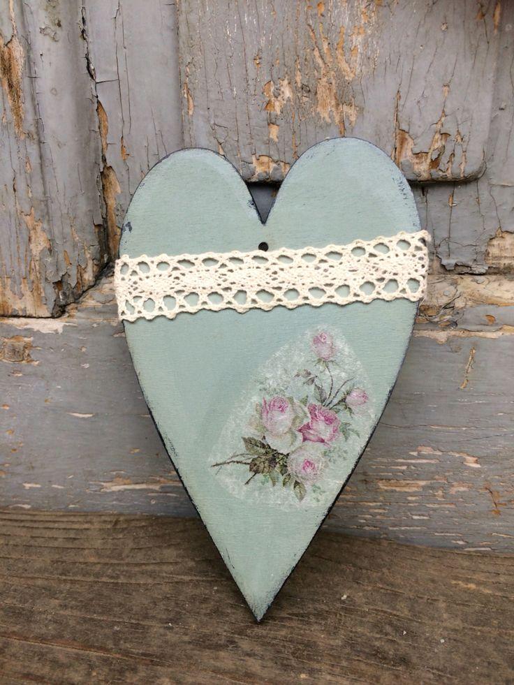 #vintage #heart #decupage #FidArt #handmade #shabbychic