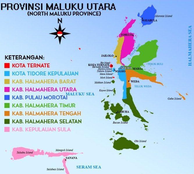 Peta Provinsi Maluku Utara