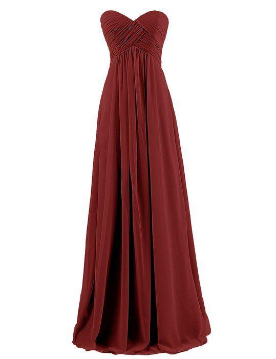 Dresstells Brautjungfernkleid Lang Chiffon Abendkleider mit Schnürung ...