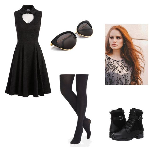 """""""Riley's Black (ch.40)"""" by xrielle17 on Polyvore featuring Express and Blondo"""