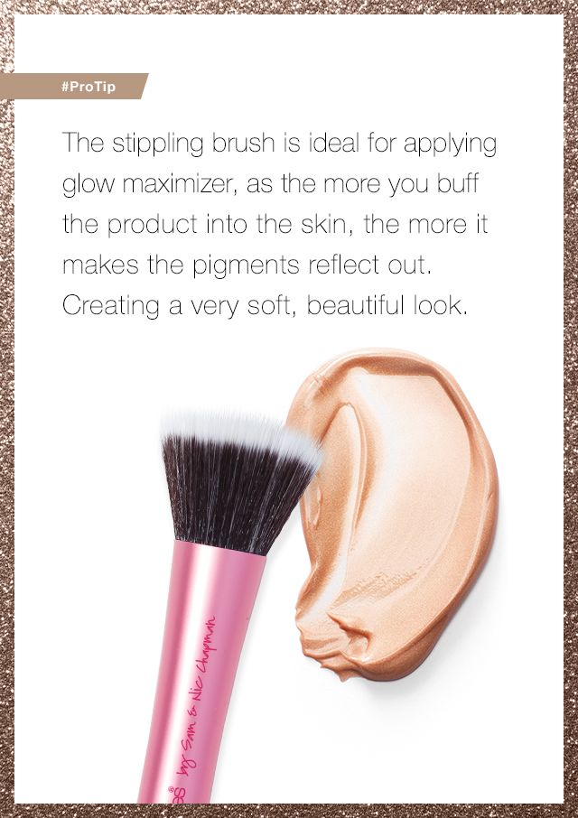 Want to get your skin to really glow? Grab a stippling brush. #ProTip