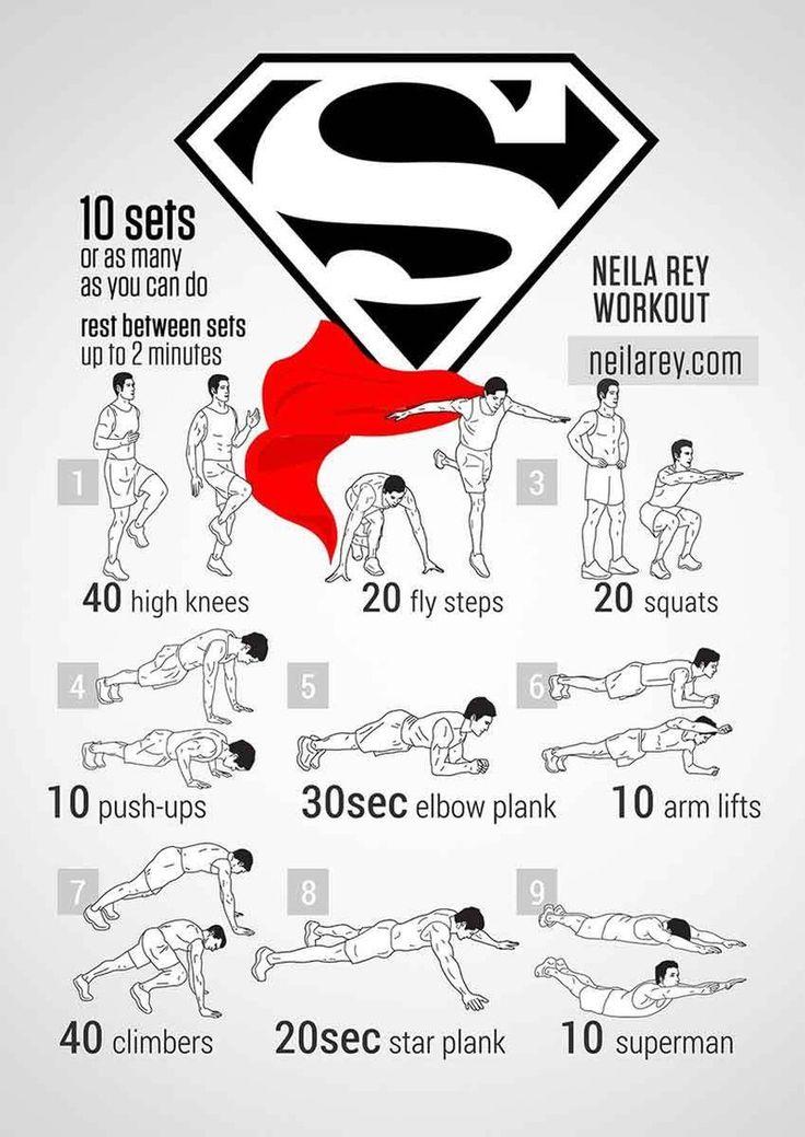 Consigue el cuerpo de Bruce Wayne, Clark Kent y compañía con ejercicios con tu propio peso