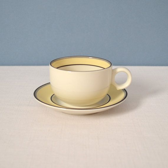 Vintage Arabia of Finland Veranda Cup and Saucer by MidModMomStore, $19.00