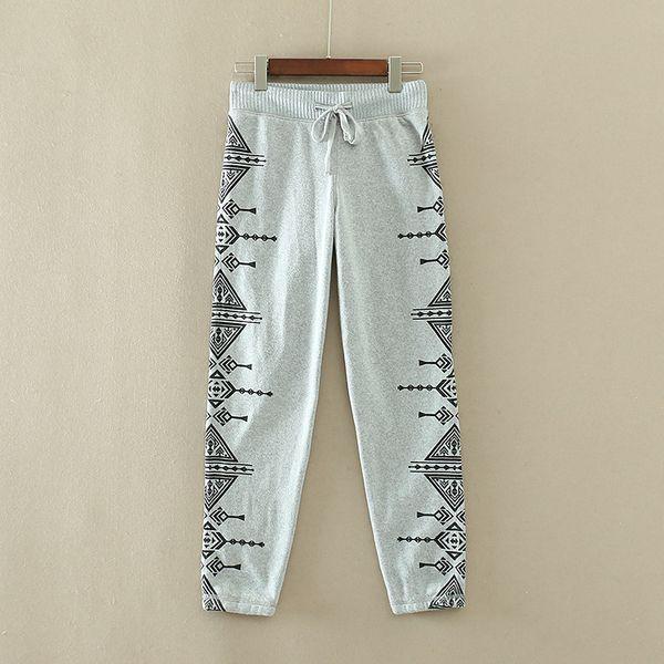 Оригинальные одиночные удобные мягкие толстые теплые зимы плюс бархат брюки случайных брюки женские ноги высоко и препояшь C48