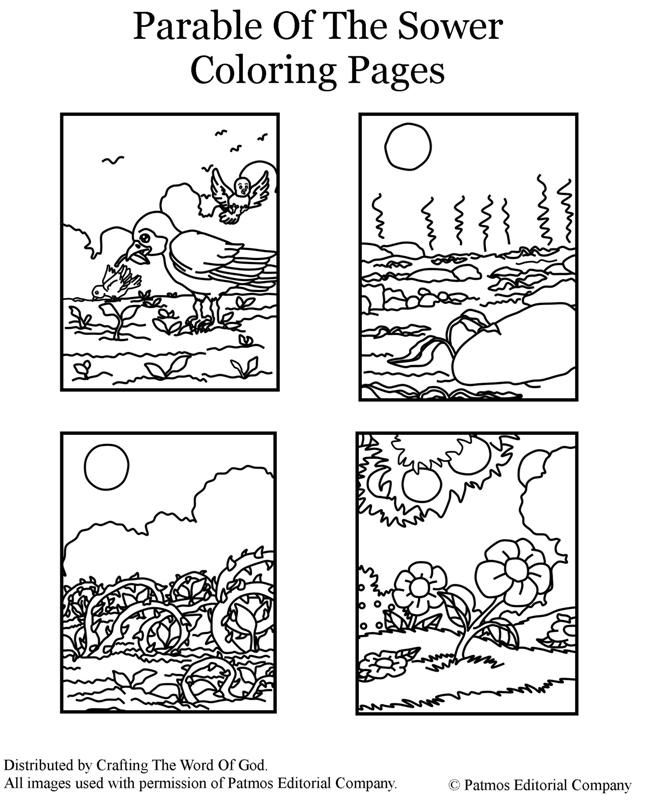 Parable Of The Sower (Coloring Pages) Coloring pages are a great way to end a Sunday School lesson. They can serve as a great take home activity. Or sometimes you just need to fill in those last fi...