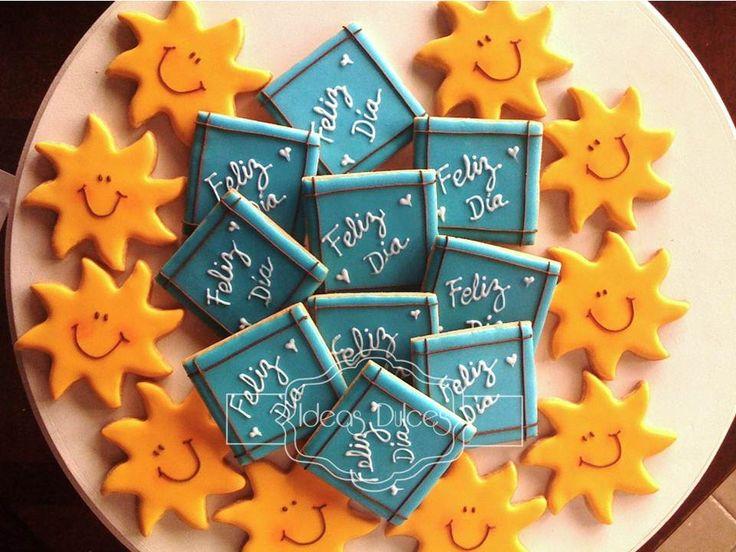 Galletas para el Día del Maestro encargadas por Claudia