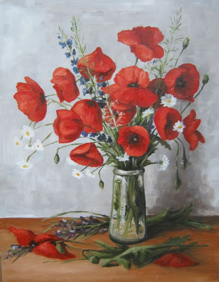 Poppy, oil painting