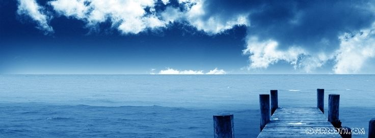 blue ocean dock beautiful holiday location  fun cool stunning nature facebook profile cover blue skies and  white clouds