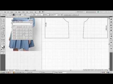 Tişört kalıbı üzerine model uygulama 9  / T-short pattern on the model a...