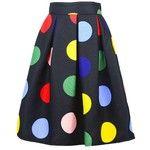 Colorful Polka Dot Midi Skirt