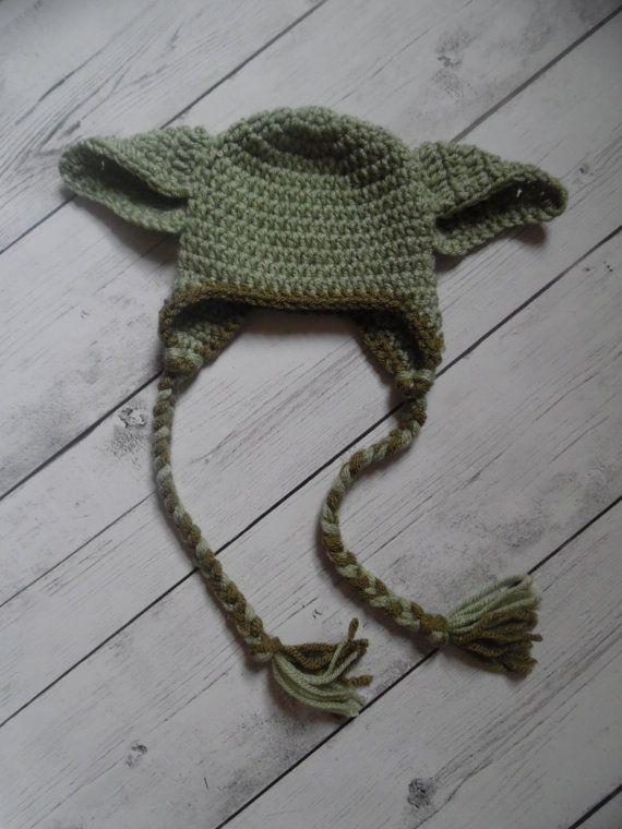 Yoda Hat, Crochet Yoda Hat, Baby Boy Hat, Made to Order ...
