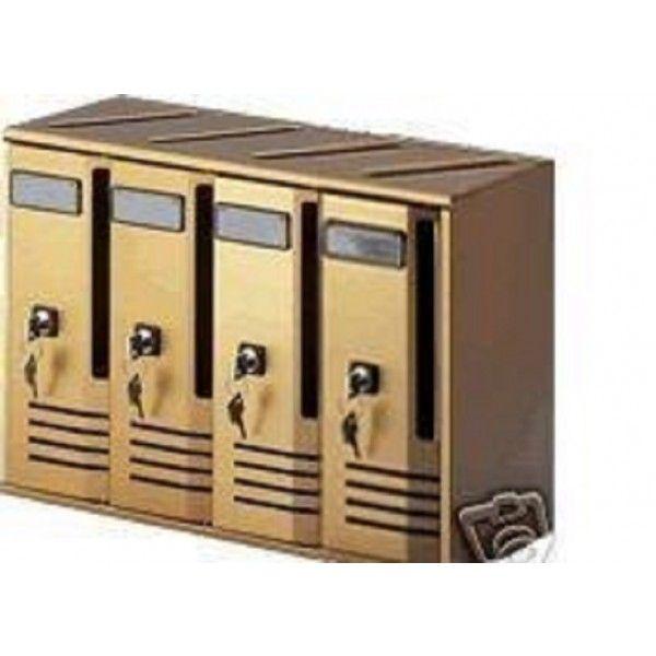 CASSETTA POSTALE CASELLARI BLOCCHIERE 4 elementi colore ORO - BRONZO Alubox - Cassette postali - Casalinghi e Arredamento