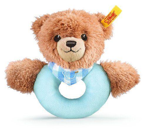 Steiff Sleep Well Bear Grip Toy Blue (シュタイフ・スリープ・ウェル・ベア・グリップ・トイ・ブルー) - http://anipon.pink/stuffed/?p=4842