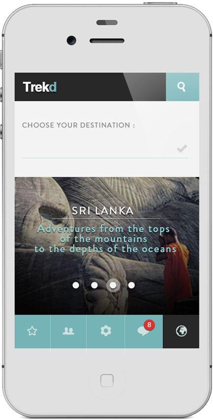 App | Trekd Concept on #Behance #Mobile #App #UI