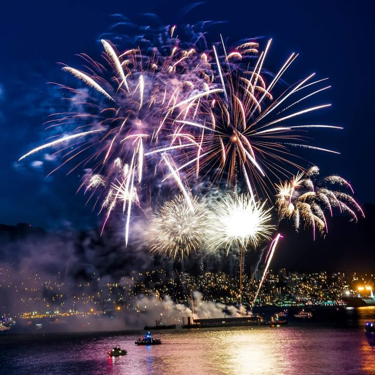 Fireworks tonight were fantastic!  Happy Canada Day! #fireworks #canada150 #canadaplace #canadaday